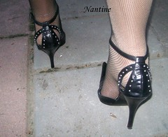 Giuseppe Di Dato 4 (Kwnstantina) Tags: feet leather highheels fishnet heels nylon giuseppe blackpumps strapgiuseppedidato