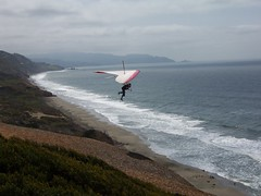 Hang glider stepping right off the path into the air! (rogue11) Tags: sanfrancisco fortfunston westcoast