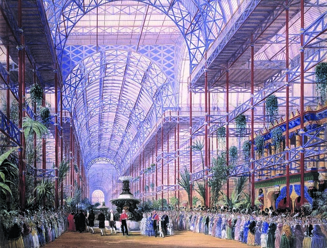 Joseph Nash, The Opening of the Crystal Palace by Queen Victoria, June 10th 1854, Private Collection