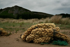 Rugged Rope (Time Grabber) Tags: lighthouse beach muscles wales countryside log sand dunes rope driftwood pools wfc barnarcles llanrhidian timegrabber whitfordpoint