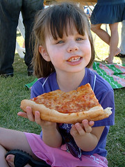 Laurel's enormous slice of pizza