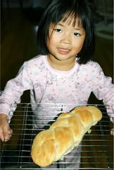Olivia with Swedish Braided Bread She Made
