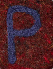 Alphabet ATC or ACEO Available - Needlefelted Letter P