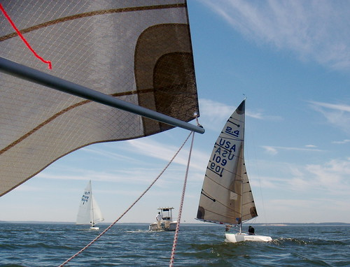 2.4 Meter Nationals, Sailing to the course