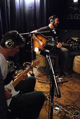 Matt Morris & Charlie Sexton backstage