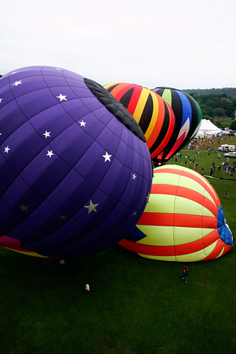 Quechee Balloon Festival from above