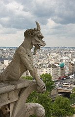 Notre Dame, Paris (John_Kennan) Tags: city travel vacation holiday paris france building slr church statue stone architecture canon french eos europe european cathedral god fear religion gothic carving carve gargoyle trepidation 40d