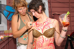 Body Painting Session! (Sweendo) Tags: summer mary fair fremont gretchen celebration bloody 2008 soltice