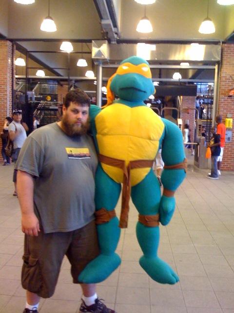 big ass ninja turtle, and me
