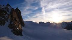 Sunrise at the Cosmiques hut (chaletlaforet) Tags: mountaineering chamonix aiguilledumidi cosmiquesarte
