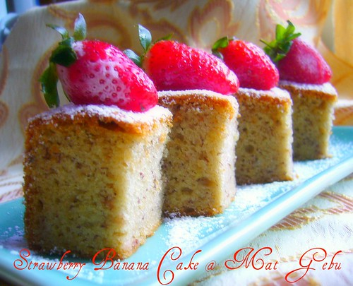 Strawberry Banana Cake