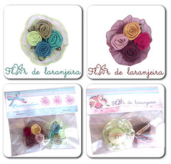 Broches (Flor de laranjeira) Tags: flowers pin button botton pregadeiras broches rococ babado