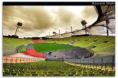 Olympic Stadium - Munich (Hussain Shah.) Tags: clouds d50 germany munich bayern bavaria 1974 football nikon stadium soccer sigma munchen olympic worldcup 1020mm kuwaiti shah olympiapark hussain mannschaft aplusphoto muwali