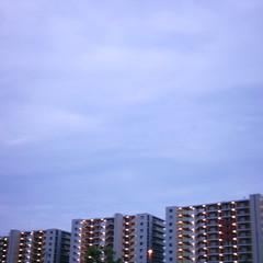 【写真】ミニデジで撮影したたそがれ時の空