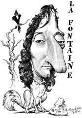 LA FONTAINE, Jean de (Morales de los Ros) Tags: writers caricaturas philosophers caricatures escritores filsofos