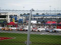 waiting (sun dazed) Tags: cars racetrack fence florida chainlink nascar daytona daytonainternationalspeedway pitroad