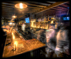 Drunken Ghosts (Karim Iliya Photography) Tags: blue 2 people ice beer glass rock bar drunk person tv long exposure shot drink room screen liquor round booze vodka rum smirnoff hdr alchohol rockit drank