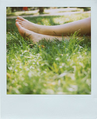 things that make me smile (*Juliabe) Tags: park friends summer vacation feet girl grass polaroid sx70 happy friendship legs happiness aude 600film andamazingweather
