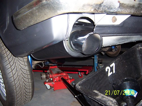 Exhaust fitted
