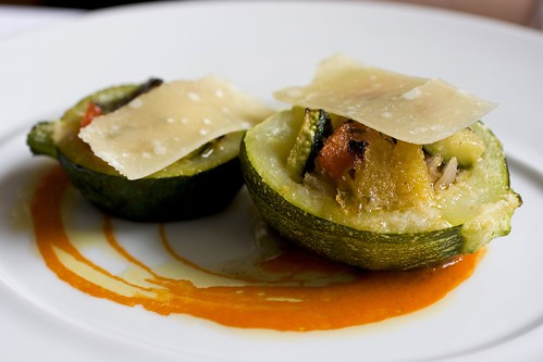 Summer Squash Ratatouille with Parmesan Shavings