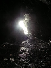 Ghostly Light in Merlin's Cave (John of Witney) Tags: cornwall merlin cave ghostly tintagel merlinscave