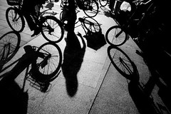 bicycles (morf*) Tags: guangzhou china shadow blackandwhite ferry bikes bicycles pearlriver