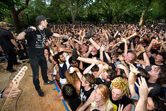 Stza of Leftover Crack lets the crowd sing along (konstantin sergeyev) Tags: nyc eastvillage newyork punk downtown lowereastside crowd crack loc punx riots tompkinssquarepark singalong leftovercrack 20thanniversary stza chokingvictim