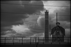 (gothicburg) Tags: chimney blackandwhite building clouds gteborg sweden gothenburg sverige slaughterhouse gamlestan nikond80 slakthuset