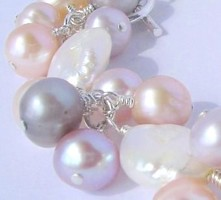 the natural tones of freshwater pearls
