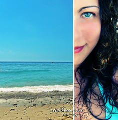 blue sea. (*northern star°) Tags: blue sea summer portrait sun mer selfportrait black eye beach me girl self mouth hair sand mare estate stones curls sunny jo io bleu explore pietre curly ricci half autoritratto sole ich gaeta ritratto nero occhio spiaggia bocca je ragazza sabbia ble northernstar riccia explored donotsteal ©allrightsreserved assolato étè northernstarandthewhiterabbit northernstar° tititu pianadisantagostino usewithoutpermissionisillegal northernstar°photography ifyouwannatakeitforpersonalusesnotcommercialusesjustask