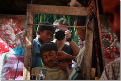 Funky Mirror (Shabbir Ferdous) Tags: people colour reflection composition f