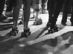 Rollerskates & Shadows (shaire productions) Tags: sf sanfrancisco lighting light shadow party blackandwhite bw musician music abstract monochrome club disco dance video shoot artist dj shadows view dancing live performance rollerskates monotone dancer retro nostalgia instrument inferno boogie electronica hiphop electronic instruments discoball mighty deejay skates rollerskating vibe omrecords jboogie dubtronicscience