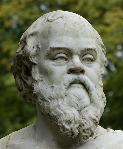 Here's a statue of Plutarch, which presumably he got high for.