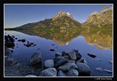 A Grand Reflection (James Neeley) Tags: reflection nature landscape nikon bravo searchthebest tetons grandteton hdr grandtetonnationalpark d300 jennylake 5xp visiongroup jamesneeley vision100