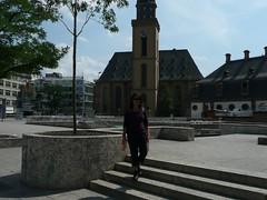 P1030203 (Michael Afar) Tags: germany churches frankfurtmain shoppingdistricts