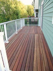 Our new back deck.