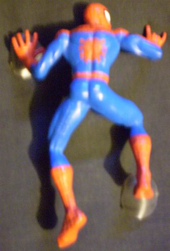 Back of Spider-Man wall clinger from 2004
