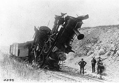Collision between two engines, Bay of Quinte Railway, ON, 1892