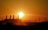 industrial sunrise (AgusValenz) Tags: orange sun sol sunshine silhouette contraluz nikon amanecer soviet coolpix goodmorning centralasia kazakhstan eurasia naranjas buenosdias p80 казахстан казакстан karabatan