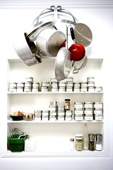 pot rack and spices