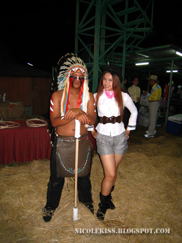cowgirl and indian guy