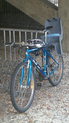 blue bike and children free (gutenblerg2) Tags: blue mountain cycling child seat bikes carbon footprint
