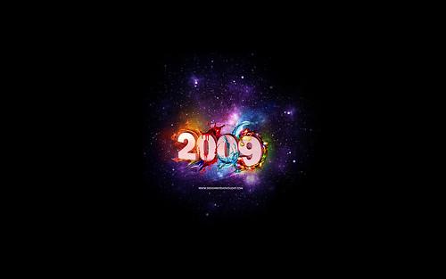 2009 New Year Wallpaper Set by elena_london_s.