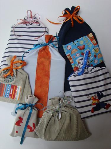 Sacs cadeaux tissu 2