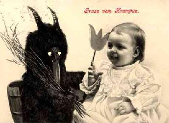 baby and krampus