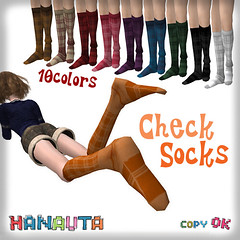 HANAUTA*CheckSocks
