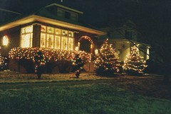 Christmas in Berwyn Illinois. December 1988.
