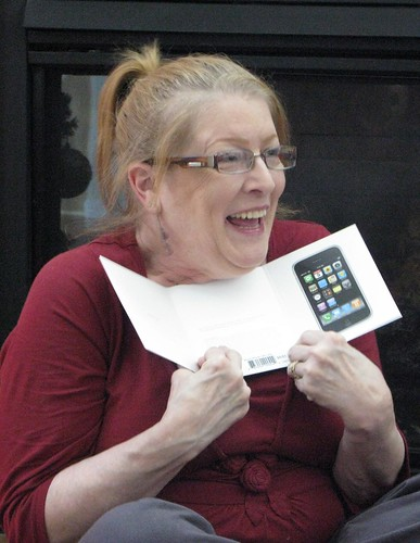 Thrilled about her iPhone Gift Card.