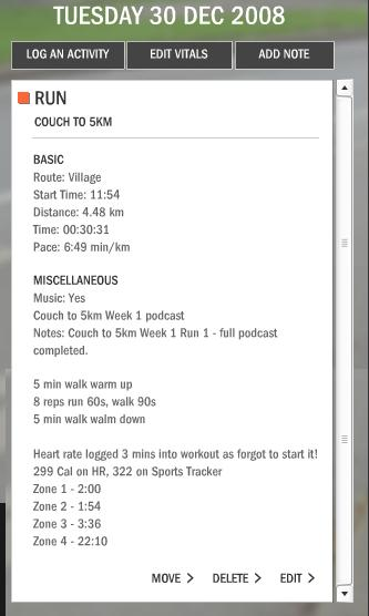 #road Couch to 5km Week 1 Run 1 - Nike+ training log