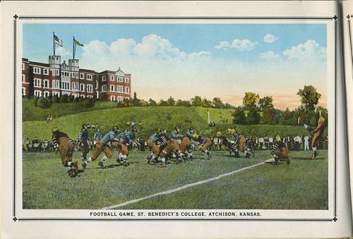 college saint football ks souvenir kansas booklet benedictine 1925 atchison benedict derivativeworks benedictinecollege collegeofstbenedicts atchisonhistoryproject